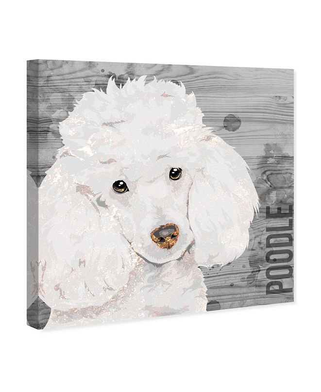 "Oliver Gal Love My Poodle Canvas Art, 12"" x 12"""