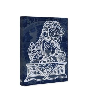 Julianne Taylor - Foo Dog Midnight Canvas Art, 24