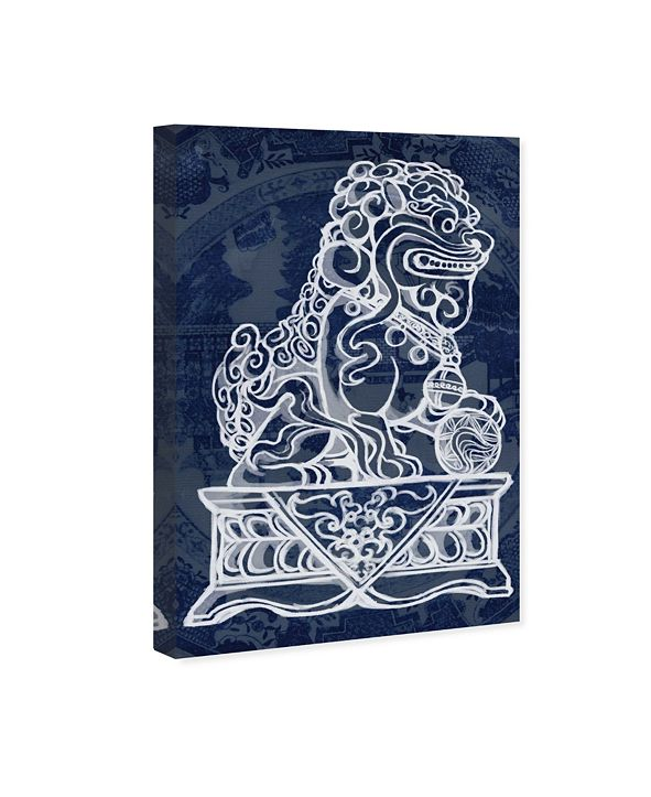 "Oliver Gal Julianne Taylor - Foo Dog Midnight Canvas Art, 10"" x 15"""