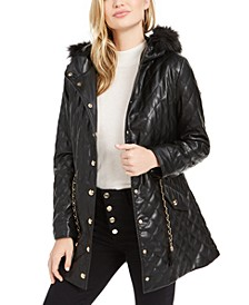 Saira Quilted Faux-Fur Collar Jacket