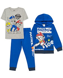 Toddler Boys 3-Pc. PAW Patrol Hoodie, T-Shirt & Joggers Set
