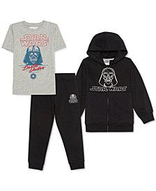 Star Wars Little Boys 3-Pc. Darth Vader Hoodie, T-Shirt & Joggers Set