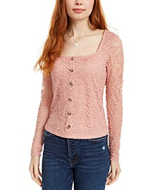 Juniors' Lace Top
