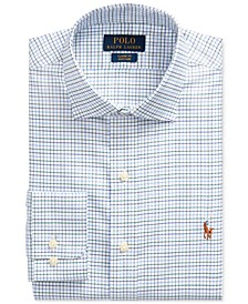 Polo Men's Green/Navy Classic Fit Easy Care Oxford Shirt