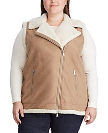 Plus Size Shearling-Trim Vest