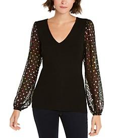 INC Rainbow Clip-Dot Sweater, Created for Macy's