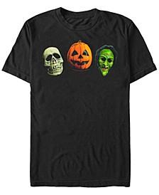 Halloween 3 Men's Skull Pumpkin Witch Mask Costume Short Sleeve T-Shirt