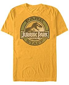 Jurassic Park Men's Staff Icon T-Rex Skeleton Short Sleeve T-Shirt