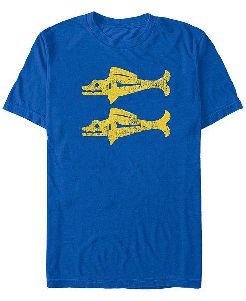 Fifth Sun Nickelodeon Men's Legends of the Hidden Temple Blue Barracudas Logo Short Sleeve T-Shirt