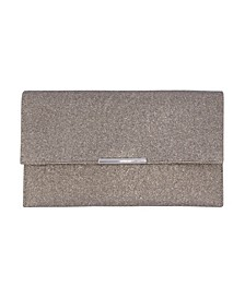 Metallic Animal Sparkle Jacquard Double Pocket Envelope Clutch