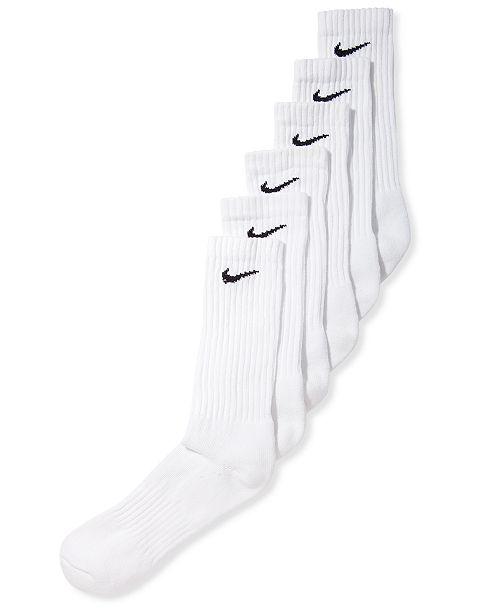 66319c0a355fb Nike Men's Cotton Crew Socks 6-Pack & Reviews - Socks - Men - Macy's