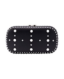 Western Chic Embellished Faux Leather Minaudiere