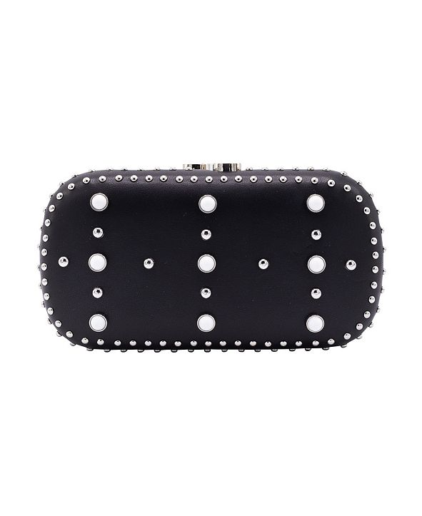 La Regale Western Chic Embellished Faux Leather Minaudiere