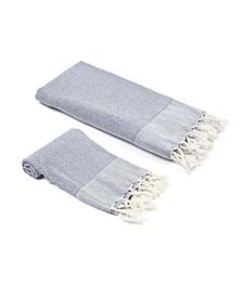 Whisper Weight Turkish Bath and Hand Towel 2 Piece Set