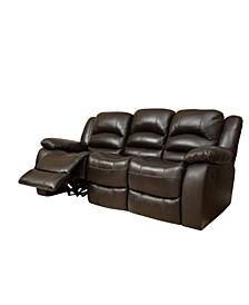 "Paloma 82"" Leather Recliner Sofa"