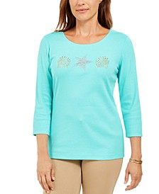 Studded Seashell Top, Created For Macy's
