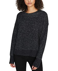 Oversize Metallic Knit Sweater