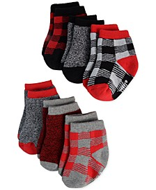 Baby Girls 6-Pk. Plaid & Marled Socks