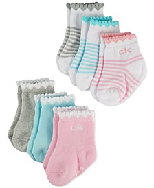 Baby Girls 6-Pk. Scalloped Hearts Socks