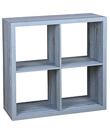 HDS Trading 4 Open Cube Organizing Wood Storage Shelf