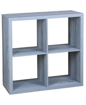 Hds Trading 4 Open Cube Organizing Wood Storage Shelf