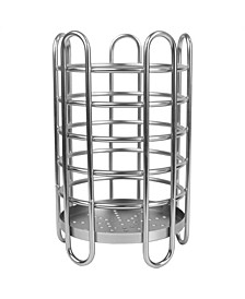 HDS Trading Simplicity Collection Free-Standing Utensil and Cutlery Holder with Quick Draining Holes