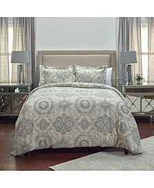 Elma Queen 3 Piece Duvet Set