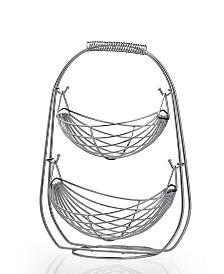 2 Tier Stainless Steel Fruit Basket