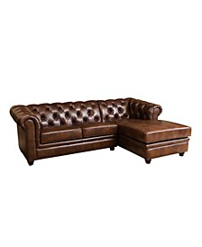 Posey Leather Sectional Sofa