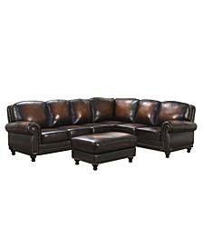 Leona Leather Sectional Sofa