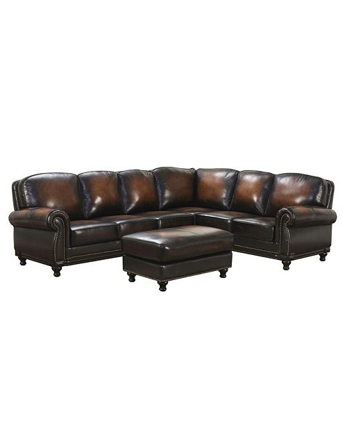 Fantastic Leona Leather Sectional Sofa Gmtry Best Dining Table And Chair Ideas Images Gmtryco