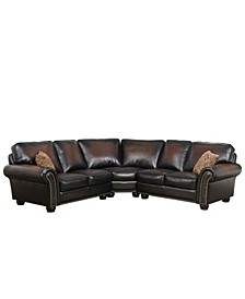 Denver Leather Sectional Sofa