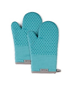 "Asteroid Oven Mitts, 7""x 12.5"", Set of 2"
