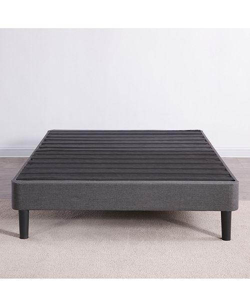 Sleep Trends Upholstered Platform Bed Frame Full Reviews Bed Frames Box Springs Mattresses Macy S