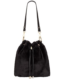 INC Binxxe Faux Fur Drawstring Crossbody, Created For Macy's