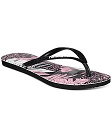Women's Slim Surf Floral Flip-Flop Sandals
