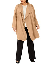 Plus Size Shawl Collar Jacket, Created For Macy's