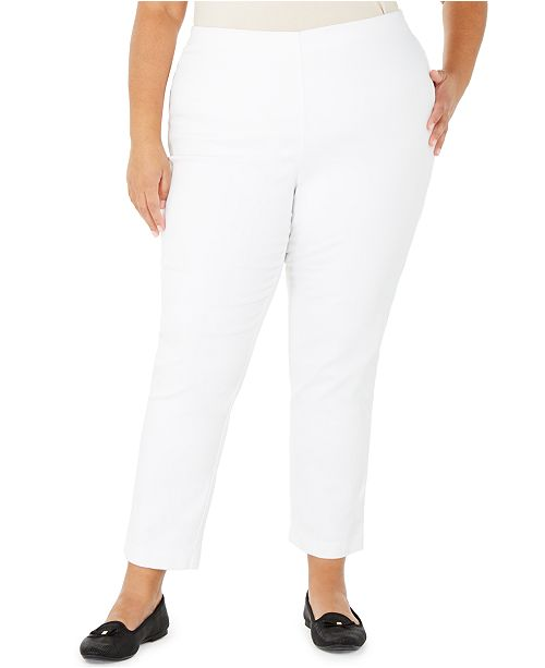 Charter Club Plus Size Pull-On Skinny Pants, Created for Macy's