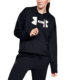 Under Armour Women's Fleece Chenille-Logo Hoodie