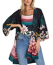 Paradise Palms Printed Kimono
