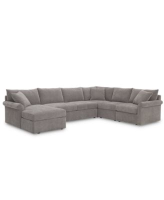 Wedport 5-Pc. Fabric Modular Chaise Sectional Sofa with Square Corner Piece, Created for Macy's