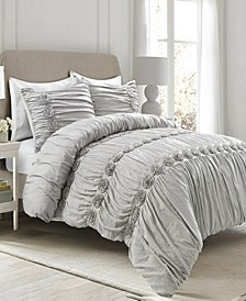 Darla Ruched 3-Piece King Comforter Set