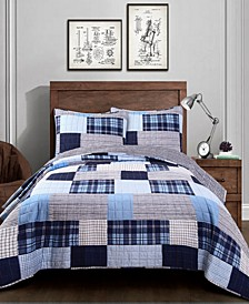 Greenville Reversible Plaid 2-Piece Twin Quilt Set
