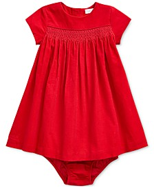 Baby Girls Corduroy Dress & Bloomer