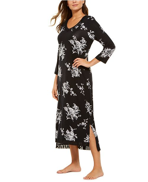 Charter Club Floral-Print Long Nightgown, Created for Macy's