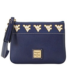 West Virginia Mountaineers Saffiano Stadium Zip Wristlet