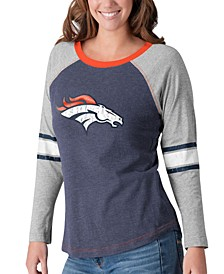 Women's Denver Broncos Long Sleeve Top Pick T-Shirt