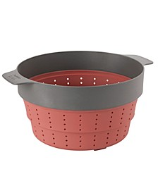 """Leo Collection 10"""" Silicone 2-in-1 Steamer and Strainer"""