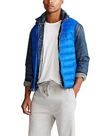 폴로 랄프로렌 Polo Ralph Lauren Mens Packable Down Vest,Sapphire Star