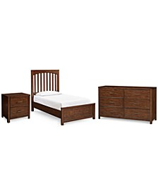Ashford Bedroom 3-Pc. Set (Twin Bed, Nightstand & Dresser)